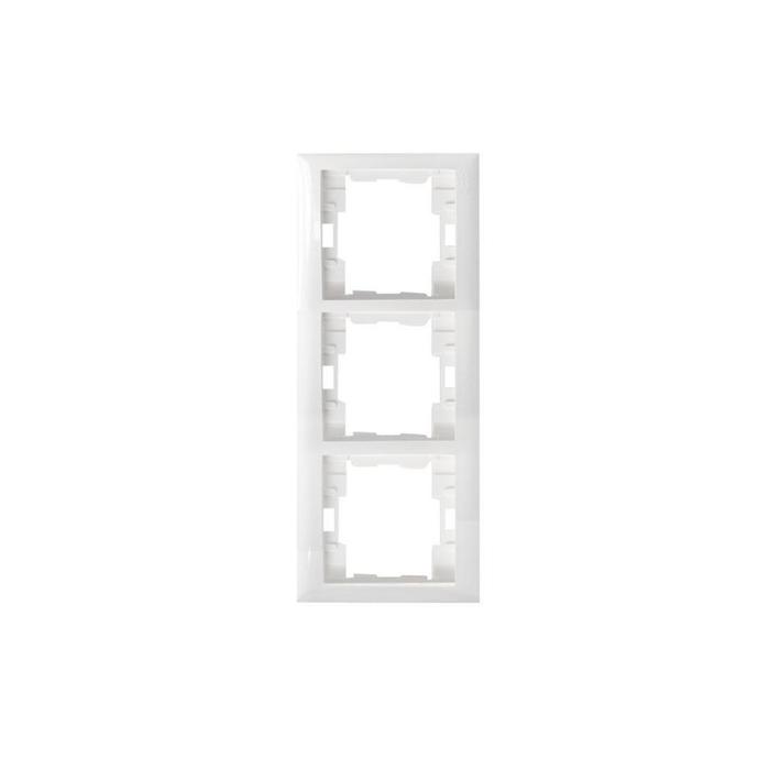 Almera - Almera Beyaz 3'lü Dikey Çerçeve