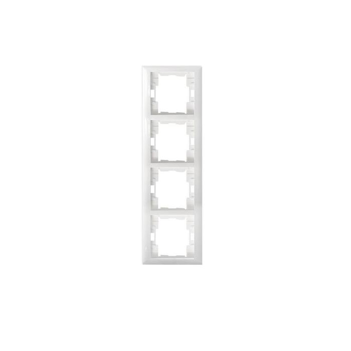 Almera - Almera Beyaz 4'lü Dikey Çerçeve