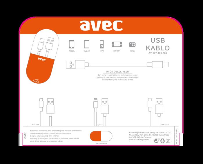 AVEC AV-189 Type-C Kablo