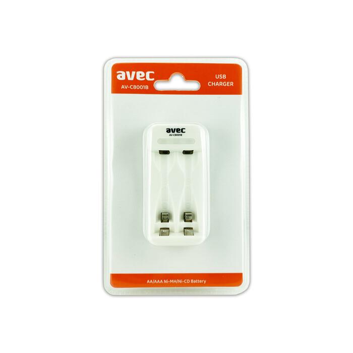 AVEC AV-C8001B AA/AAA 2Lİ ŞARJ CİHAZI