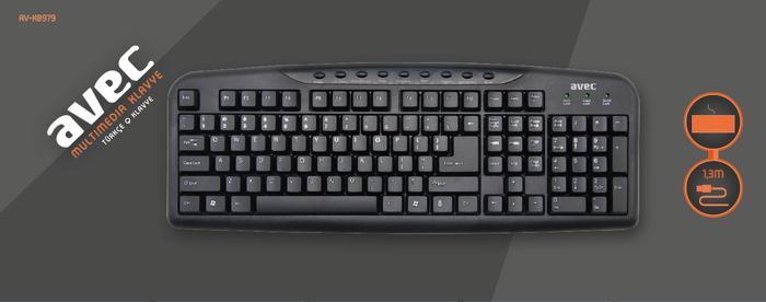 AVEC AV-KB979 Multimedya Klavye