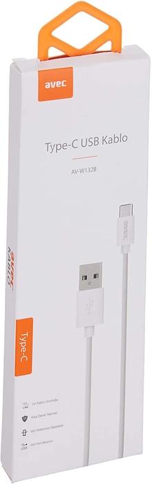 AVEC AV-W132B Type-C USB 1M Kablo