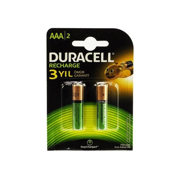 Duracell - Duracell 750 Mah Şarjlı İnce Pil 2'li