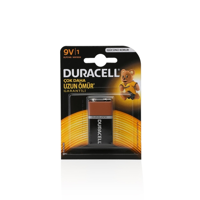 Duracell - Duracel 9 Volt Pil 1'li