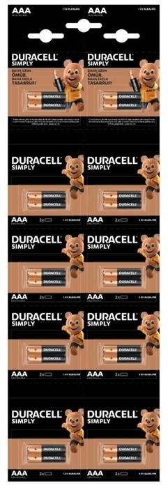 Duracell - DURACELL AAA KARTELA PİL 20Lİ