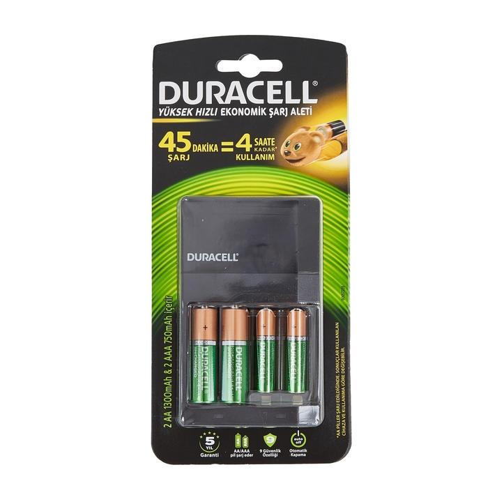 Duracell - Duracell Cef14 2*AA+2*AAA 4 Pilli Şarj Cihazı