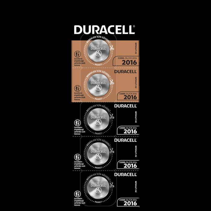 Duracell - DURACELL CR2016 LITHIUM 3V PİL 5Lİ