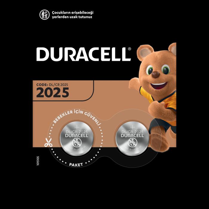 Duracell - DURACELL CR2025 LITHIUM 3V PİL 2Lİ
