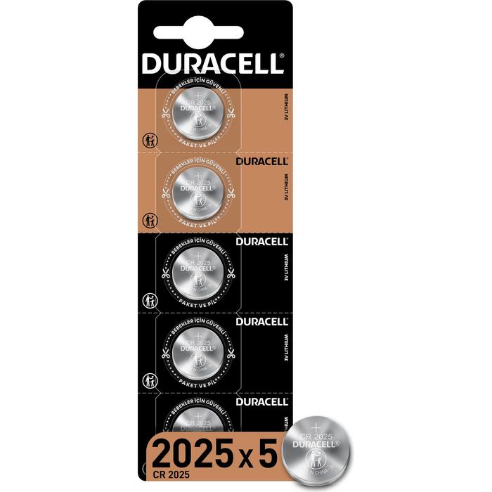 Duracell - DURACELL CR2025 LITHIUM 3V PİL 5Lİ