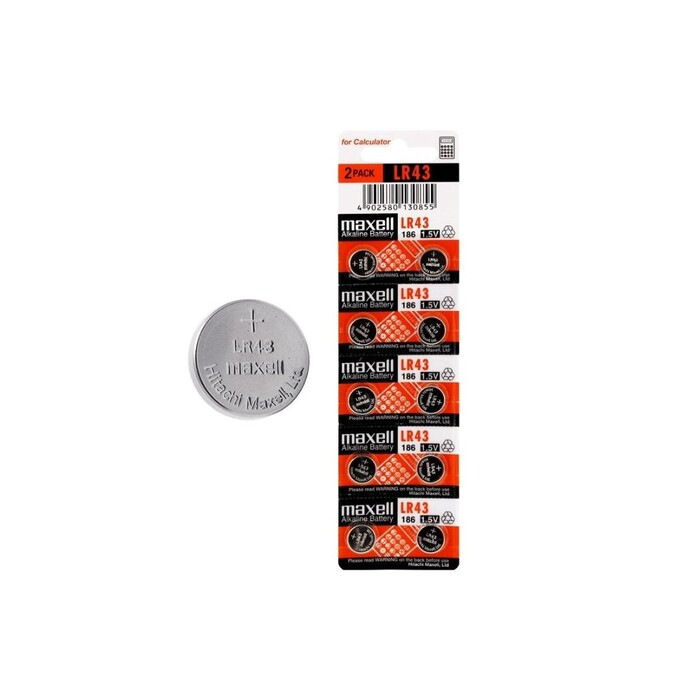 Maxell - Maxell LR43 Alkalin Kalın Pil 10'lu
