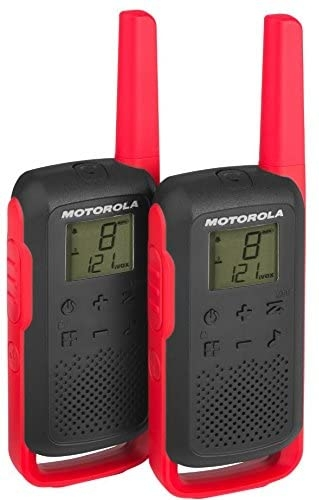 Motorola - Motorola TLKR-T62 Kırmızı El Telsizi Pmr İkili Set