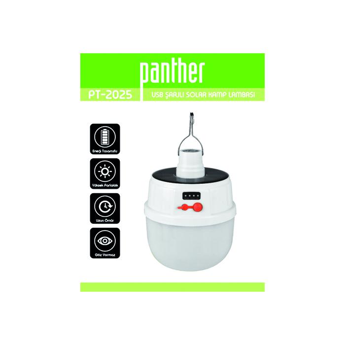 PANTHER PT-2025 ŞARJLI SOLAR KAMP LAMBASI