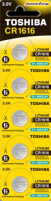 Toshiba - TOSHIBA CR 1616 LITHIUM 5Lİ PİL