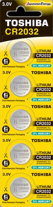 Toshiba - TOSHIBA CR 2032 LITHIUM 5Lİ PİL