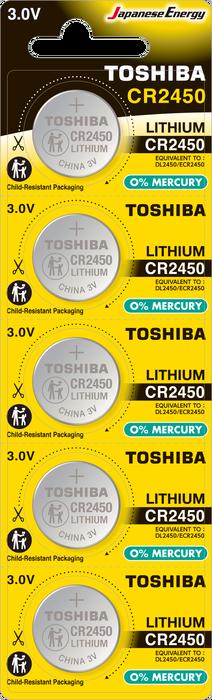 Toshiba - TOSHIBA CR 2450 LITHIUM 5Lİ PİL