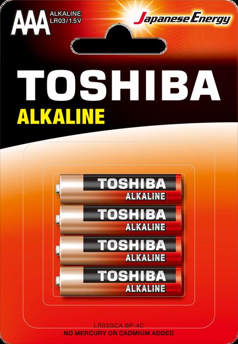Toshiba - TOSHIBA LR03 BLS ALK.İNCE 4LÜ