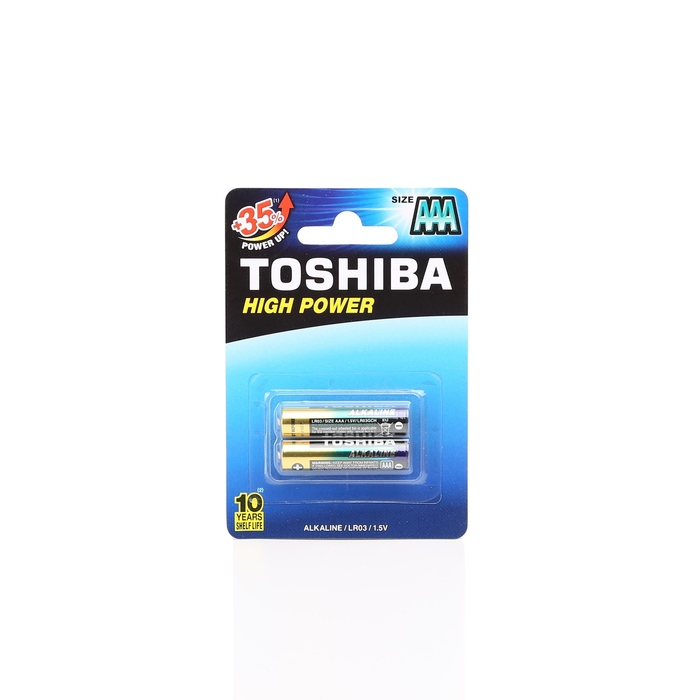 Toshiba - Toshiba LR03 High Power Alk. İnce Pil 2'li