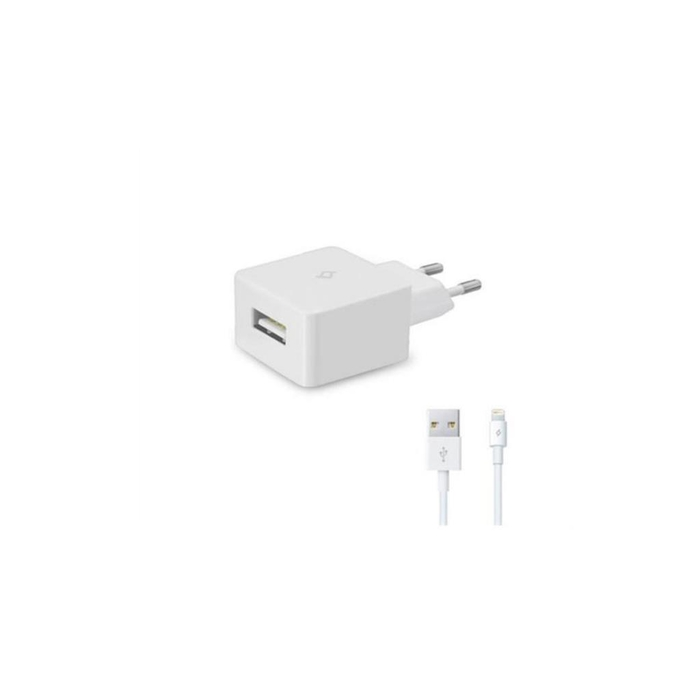 Ttec - TTec 2SCM01 1A USB Seyahat Şarj Cihazı + Iphone 5-6-7 Kablosu